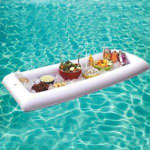buffet hinchable para piscina