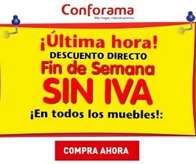 Aqu d as sin iva en conforama el mejor ahorro for Zapateros conforama precios