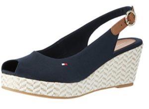 comprar sandalias cuña tommy hilfiger baratas online