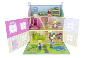 casa de muñecas de madera barata