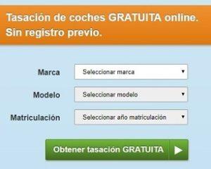 tasacion de coches gratis online sin registrarse