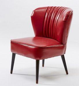 sillon vintage rojo comprar online