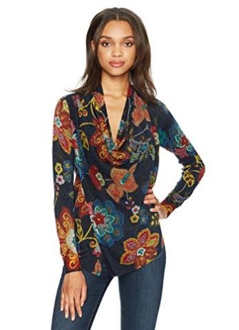 chaqueta de punto mujer desigual barata