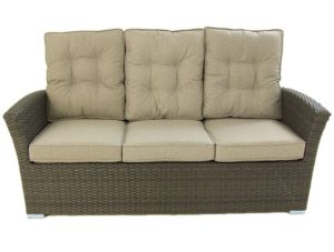 sofa jardin 3 personas color chocolate barato
