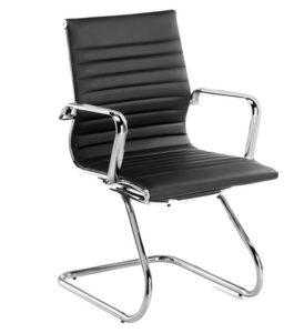 comprar silla confdente negra de piel precio mas barato online