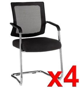 comprar silla confidente negras wister precio barato