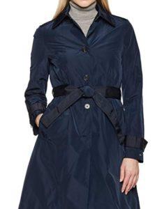 comprar abrigo mujer tommy hilfiger azul precio barato online