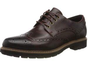 comprar zapatos clarks marrones cordones precio barato online