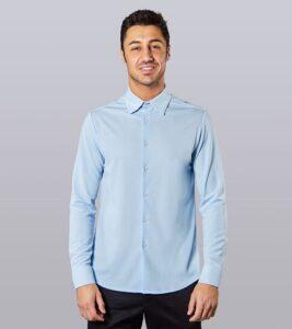 comprar camisa sepiia hombre azul precio barato online