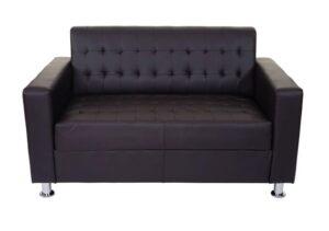 comprar sofa 2 plazas piel capitone precio barato chollo