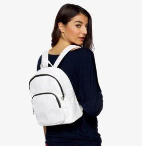 comprar mochila benetton mujer blanca precio barato online