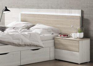 comprar cabecero de cama con led monaco precio barato online