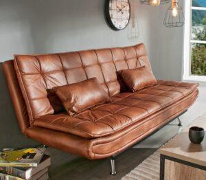 comprar sofa cama de piel sintetica willem precio barato online