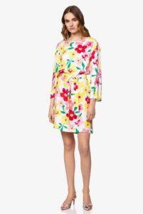 comprar vestido benetton mujer estampado flores precio barato