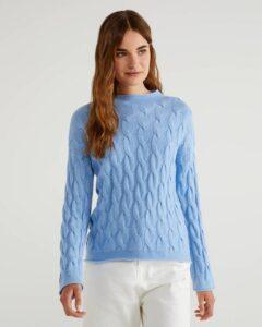 comprar jersey mujer benetton azul precio barato online