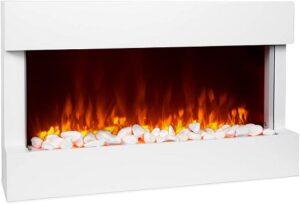 comprar chimenea electrica decorativa blanca precio barato online